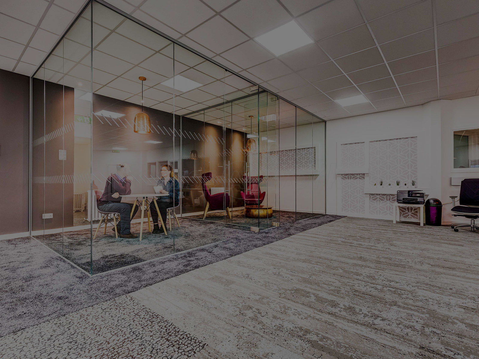 glass office partition wall midas glass contractor singapore