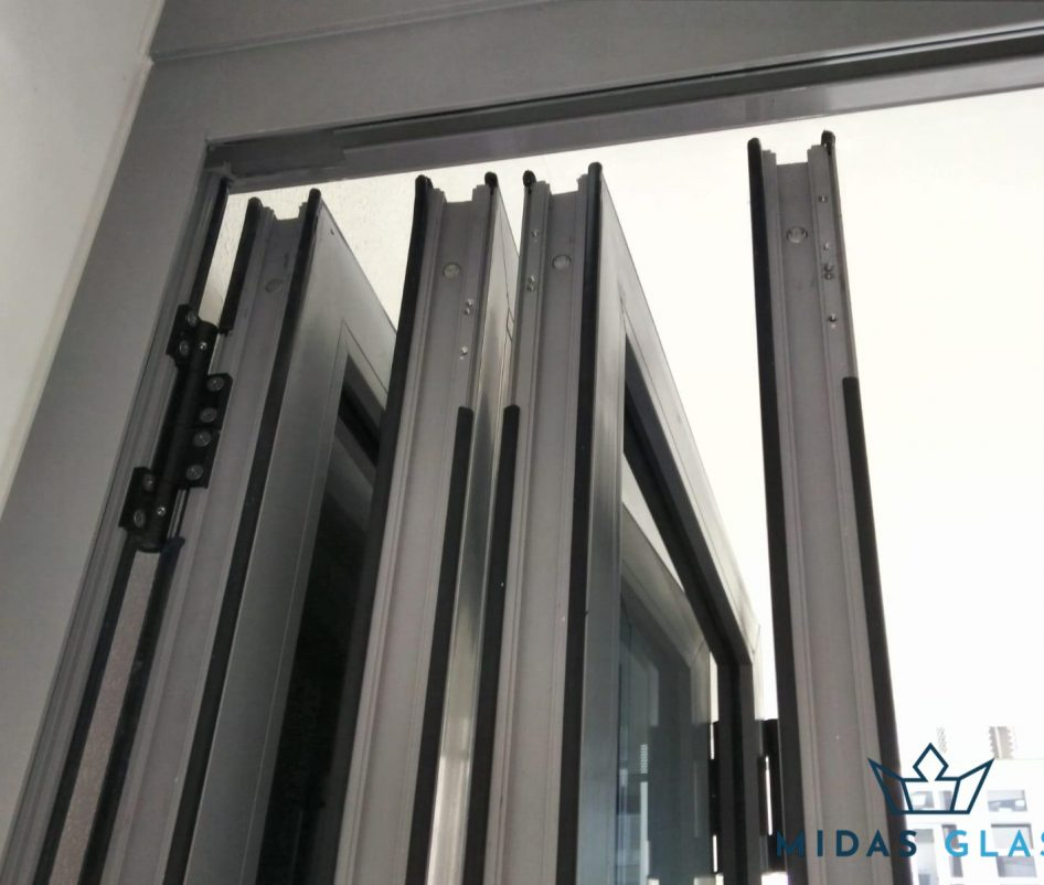 bifold glass door installation midas glass singapore condo ang mo kio