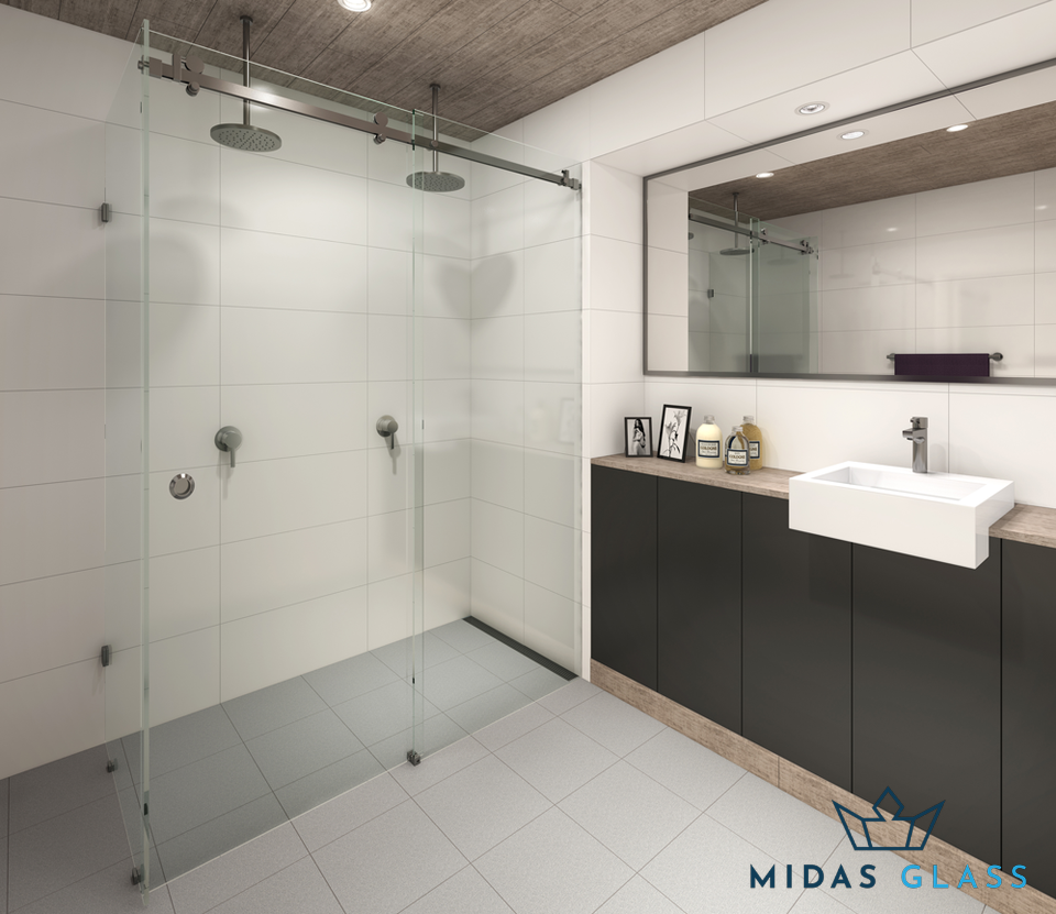 frameless shower screen midas glass contractor singapore