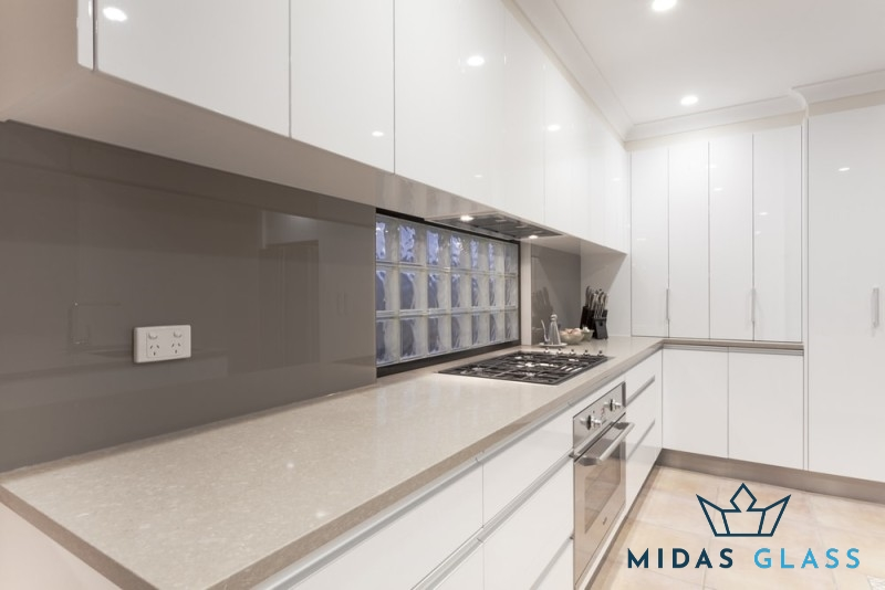 glass kitchen backsplash midas glass contractor singapore