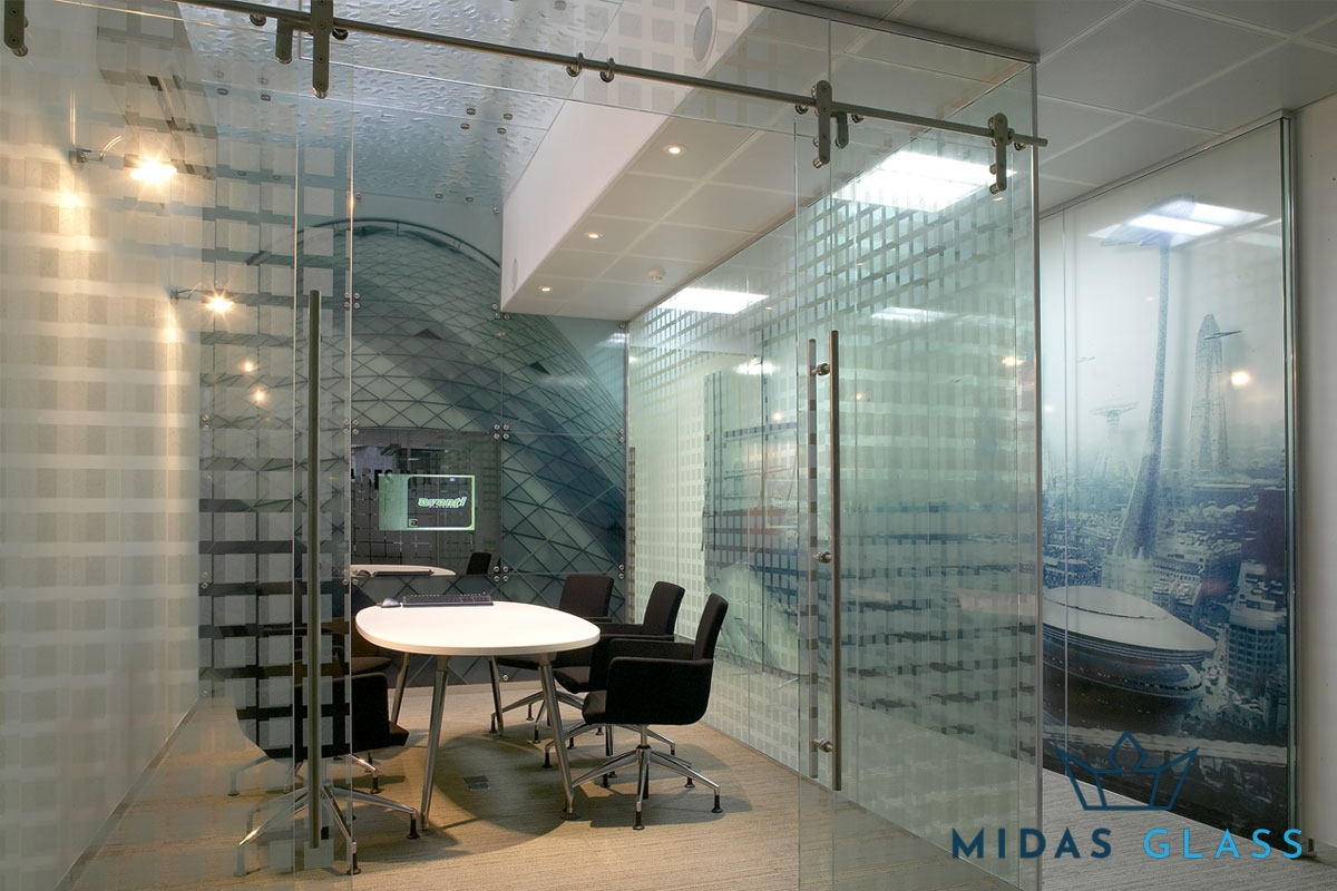 glass office walls midas glass contractor singapore
