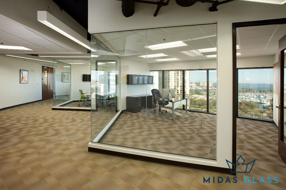 glass wall divider midas glass contractor singapore
