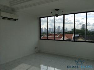 glass window installation midas glass contractor singapore condo bugis 8