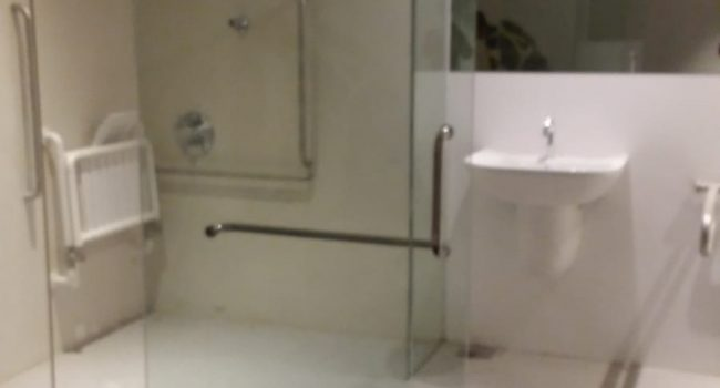 shower screen glass sliding door installation midas glass contractor singapore condo woodlands