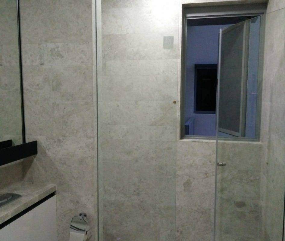 shower screen glass swing door installation midas glass contractor singapore condo bedok