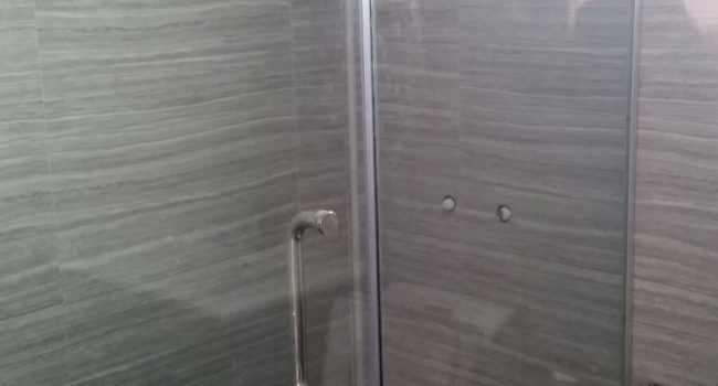 shower screen glass swing door installation midas glass contractor singapore hdb clementi