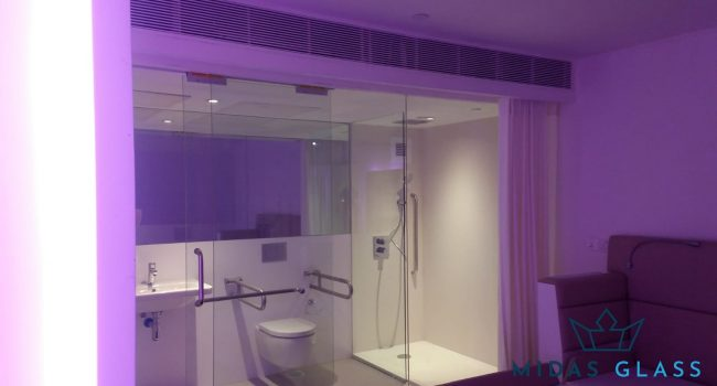 shower screen sliding glass door installation midas glass contractor singapore commercial tanjong pagar