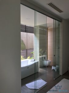 sliding glass door partition wall midas glass contractor singapore landed bukit timah