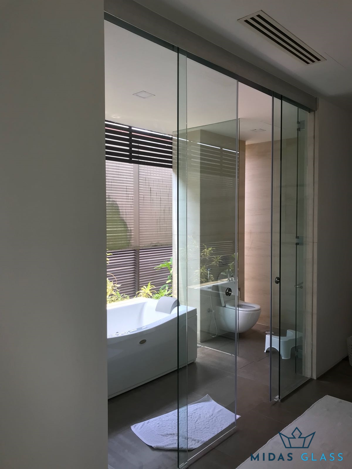 Sliding Glass Door And Glass Partition Wall Installation