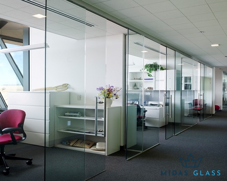 sliding office glass door midas glass contractor singapore