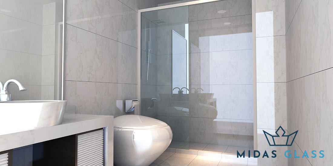 sliding shower screen midas glass contractor singapore