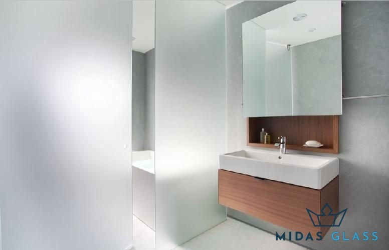 bathroom frosted glass midas glass contractor singapore