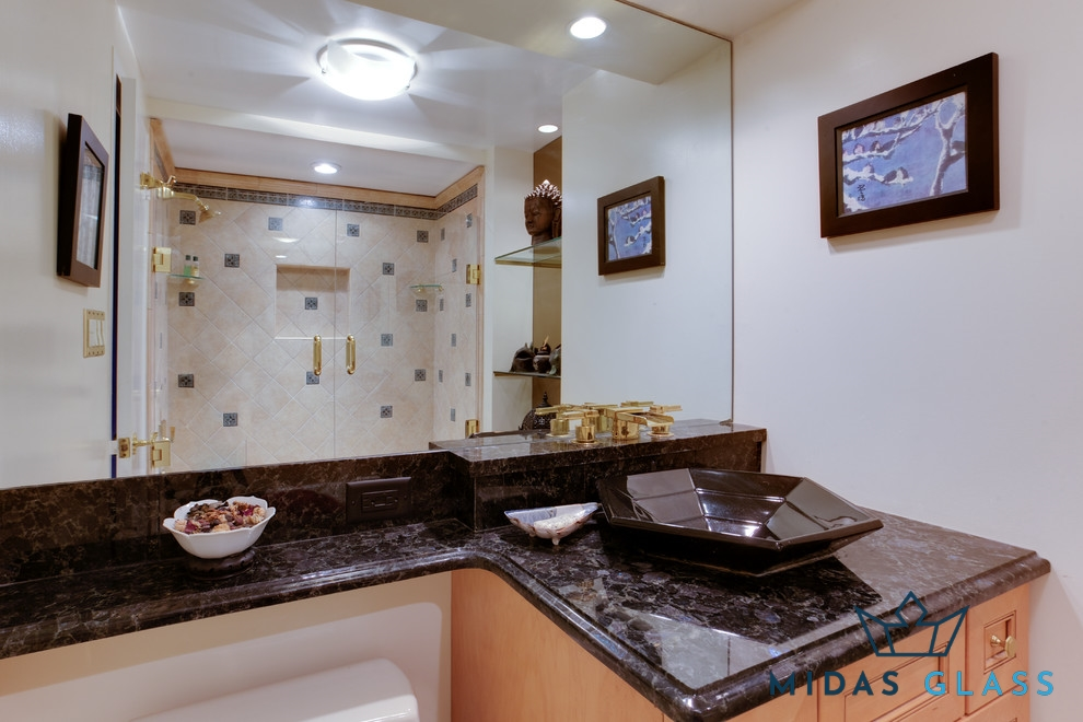 bathroom full length wall mirror midas glass contractor singapore