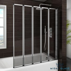 foldable shower screen midas glass contractor singapore