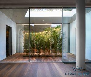 frameless sliding glass doors midas glass contractor singapore
