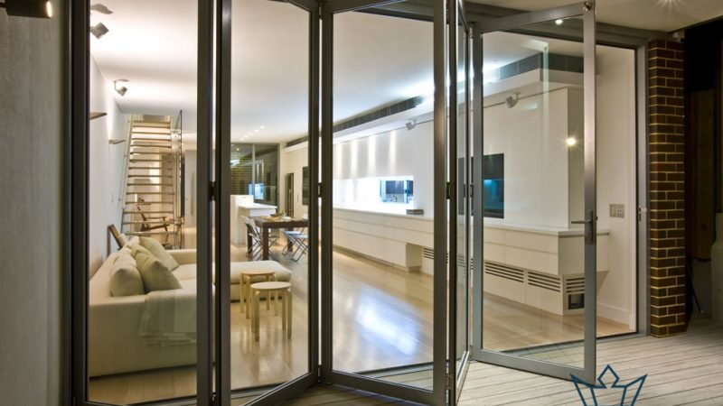 glass bifold doors midas glass contractor singapore