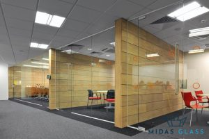 glass partition walls for office midas glass contractor singapore