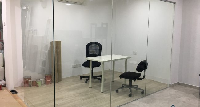glass partition wall installation midas glass contractor singapore commercial bukit merah 4