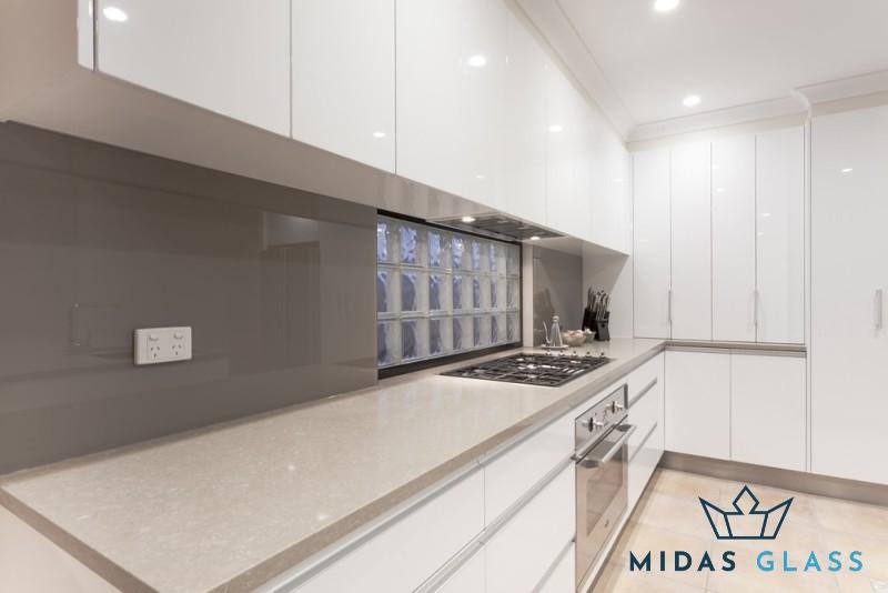 glass kitchen backsplash midas glass contractor singapore