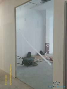 glass partition wall installation midas glass contractor singapore commercial kallang
