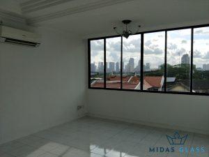 glass window installation midas glass contractor singapore condo bugis 8