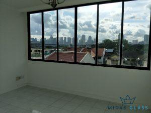 glass window installation midas glass contractor singapore condo bugis