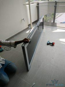 glass window installation midas glass contractor singapore condo tampines