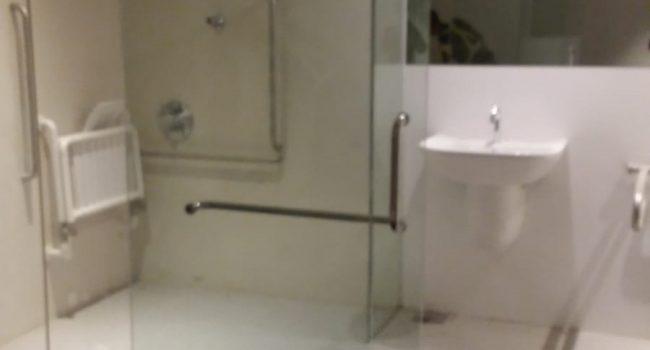 shower screen glass sliding door installation midas glass contractor singapore condo woodlands