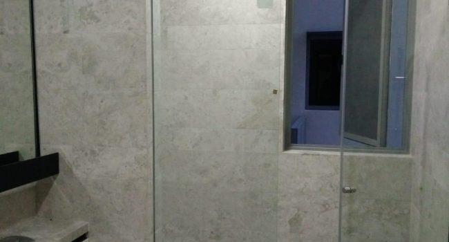 shower screen glass swing door installation midas glass contractor singapore condo bedok