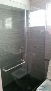 shower screen glass swing door installation midas glass contractor singapore hdb clementi