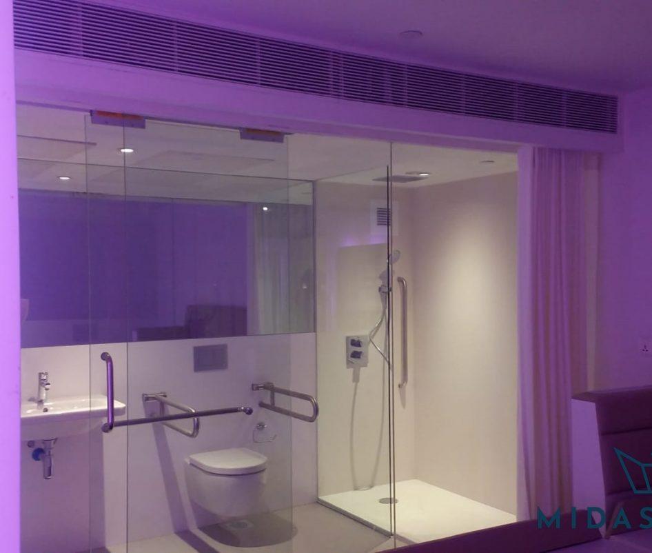 shower screen sliding glass door installation midas glass contractor singapore commercial tanjong pagar