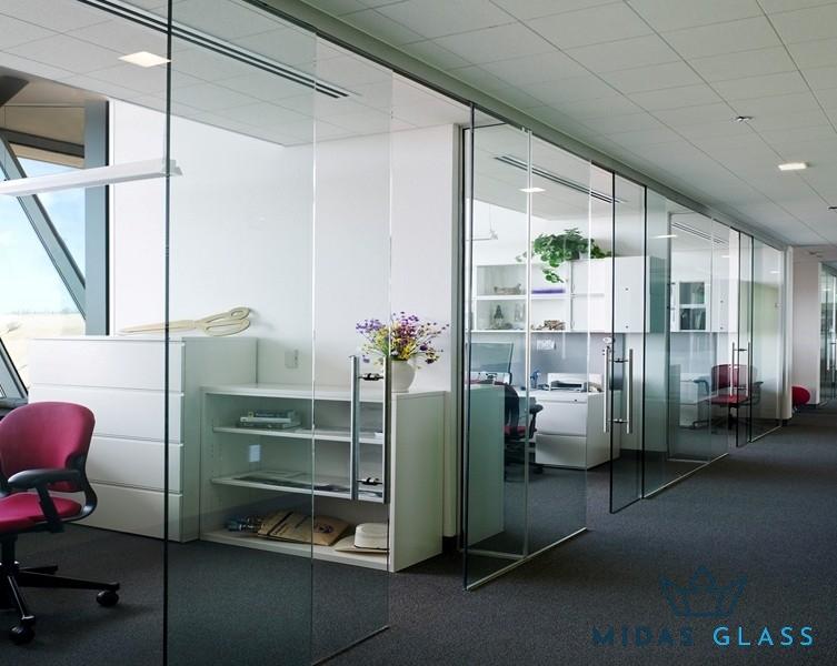 sliding office glass door midas glass contractor singapore