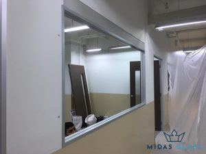 viewing glass window installation midas glass contractor singapore commercial jurong east