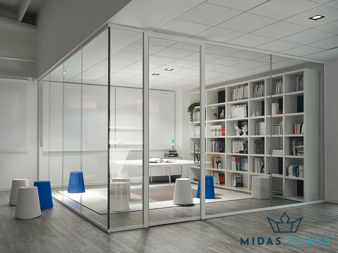 Tempered Glass Partition midas glass contractor singapore