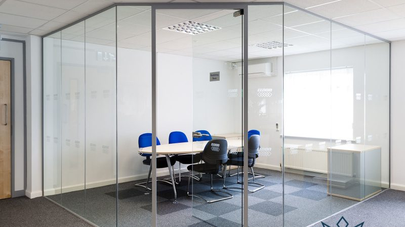 glass office partitions midas glass contractor singapore