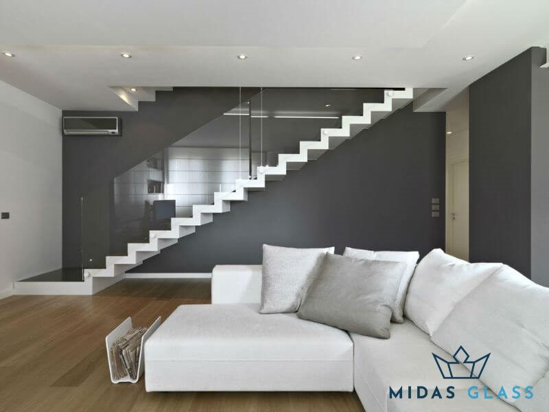 glass stair railing cost midas glass contractor singapore