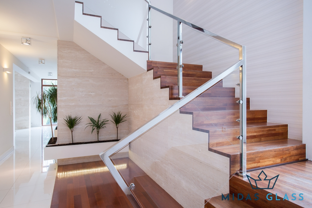 glass stair railing midas glass contractor singapore