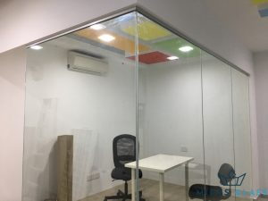 glass partition wall installation midas glass contractor singapore commercial bukit merah 2