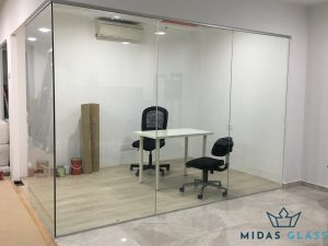 glass partition wall installation midas glass contractor singapore commercial bukit merah 3