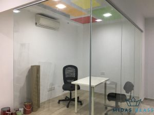 glass partition wall installation midas glass contractor singapore commercial bukit merah